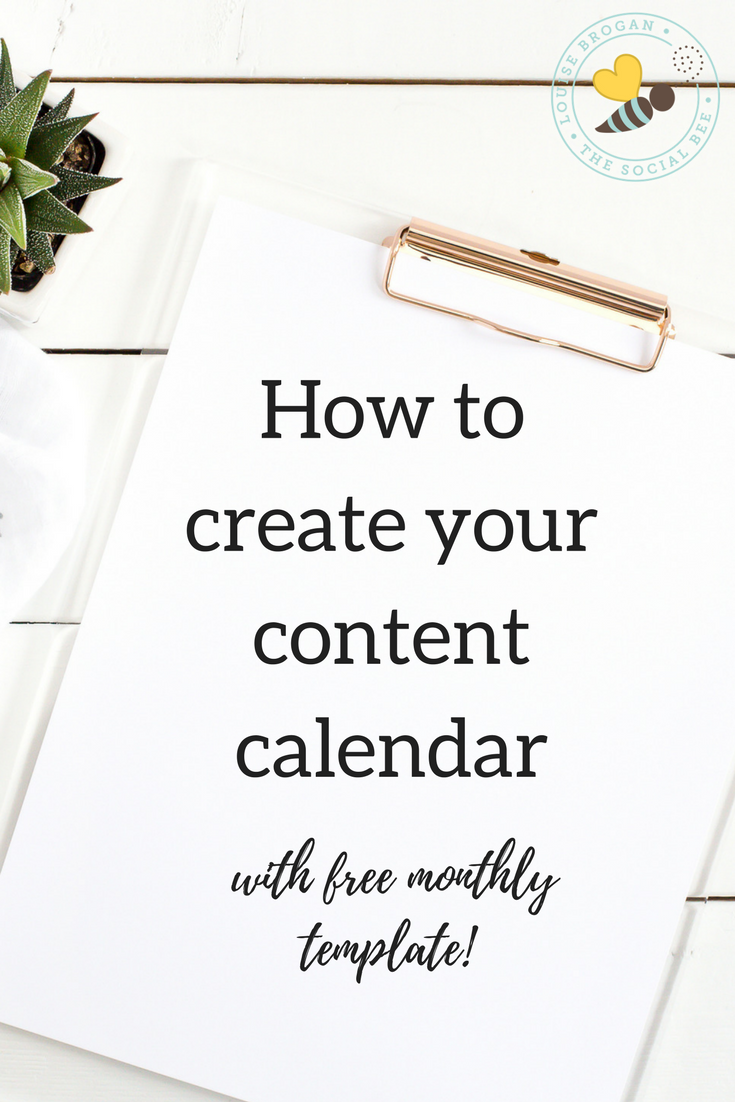 content calendar freemonthly template
