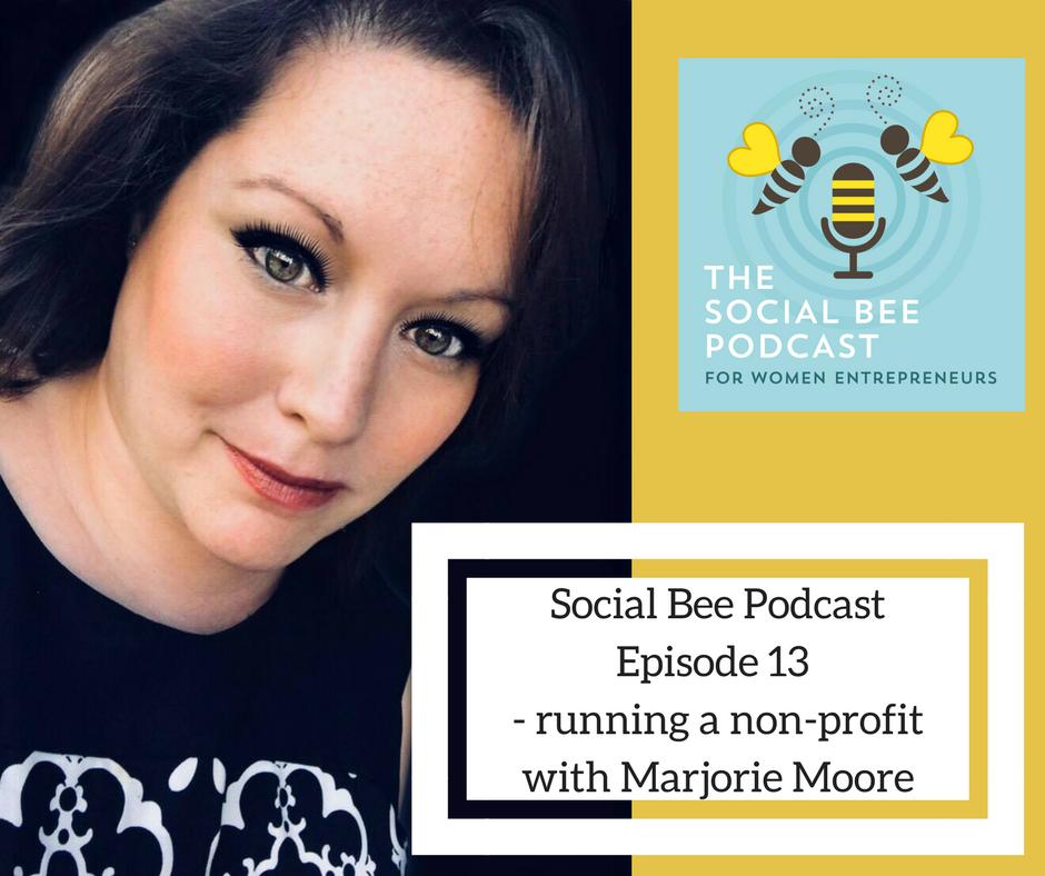 Marjorie Moore podcast non-profit