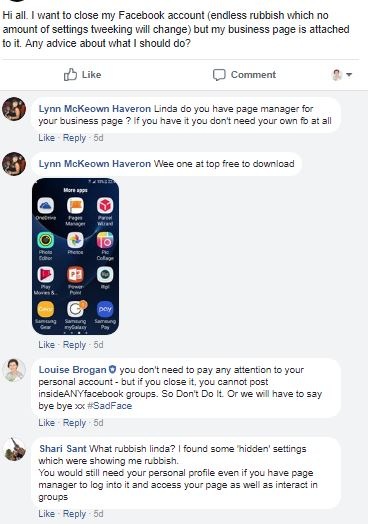 engaging in facebook groups, help for facebook business pages, facebook groups, entrepreneur, small business owner