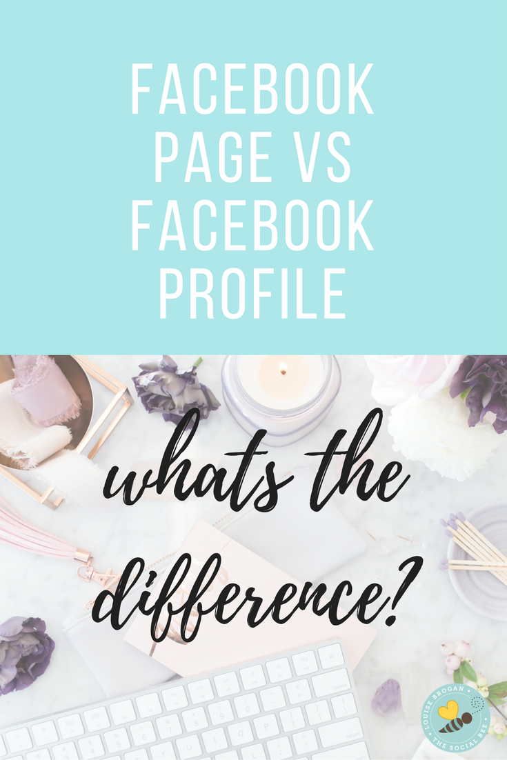 what is the difference between a facebook profile and business page