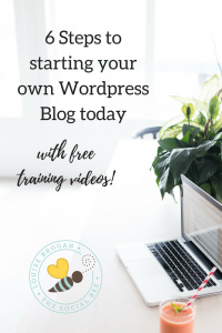 6 Steps to starting your own WordPress website TODAY with free training on how to blog