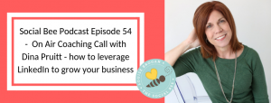 linkedin on air coaching call with Dina Pruitt, female entrepreneur
