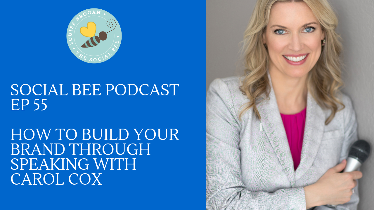 Carol Cox Speaking your Brand on the Social Bee Podcast