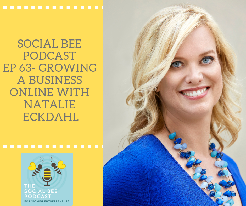 Natalie Eckdahl of BizChix podcast shares her business story with me on the Social Bee Podcast
