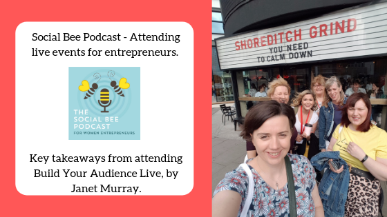 Podcast about attending live events