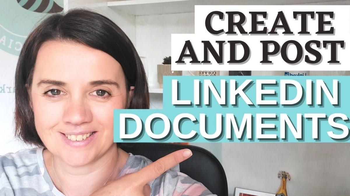 Creating document posts on LinkedIn